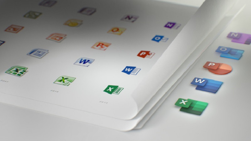 Microsoft redesigns the icons for their popular Office suite 2