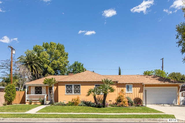 Range price: Sellers will entertain & respond to all offer between $559,000 and $609,000. Rare opportunity in prime Northridge! This home offers tons of potential with 3 bedrooms, 2 bathrooms, 1,324 sqft, attached 2 car garage and ~HUGE BONUS~  A 2nd TWO CAR DETACHED GARAGE - potential for an ADU and it's walking distance from CSUN. The home has great curb appeal with a charming front porch and manicured landscaping showing a true pride of ownership. Walk into this open and inviting home with a light and bright living room featuring a cozy brick fireplace and 2 dual pane sliders that lead to the rear yard. The remodeled galley kitchen offers an abundance of cabinets, quartz counter tops, subway tile back splash and a door leading to the back porch. There is a dining area off the kitchen with views of the front yard and opens to the living room. The spacious master suite has an en-suite, an additional sitting area perfect for a nursery or office and a door leading to the rear yard. There are 2 additional bedrooms that share a central full bathroom. There is a 2 car attached garage with laundry area and pull through access to the second garage in the rear yard. Fruit trees and mature landscaping is perfect for entertaining and privacy. Close to CSUN, shopping, restaurants this perfect location offers TONS of potential.