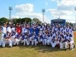 Alazanes de Granma campeón de la 56 Serie Nacional de Béisbol que se juega en el estadio Mártires de Barbados, en Granma, el 21 de enero de 2017. ACN FOTO/ Osvaldo GUTIÉRREZ GÓMEZ