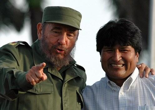 Resultado de imagen para evo morales Fidel Castro y lenin