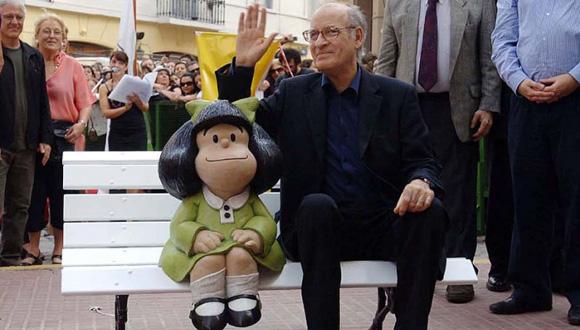 Quino y Mafalda. Foto: Archivo