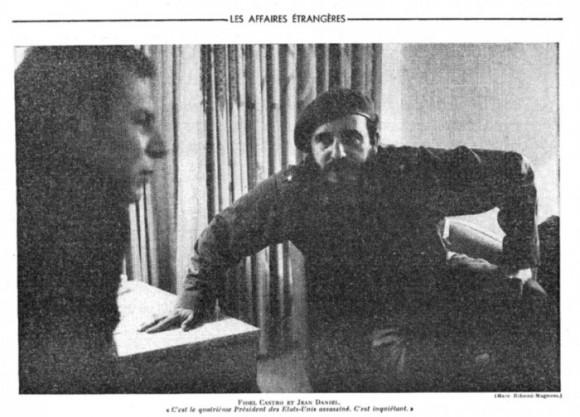 Fidel Castro y Jean Daniel en La Habana. Marc Ribaud.