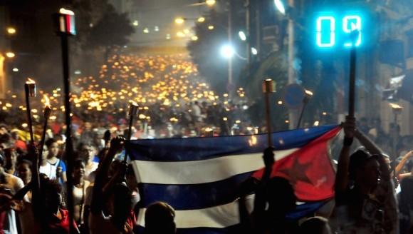 La juventud cubana protagoniza Marcha de las Antorchas. Foto: Ladyrene Pérez/Cubadebate.