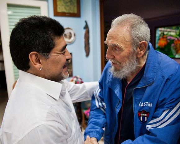 Fidel y Maradona. Foto: Cubadebate/ Archivo.