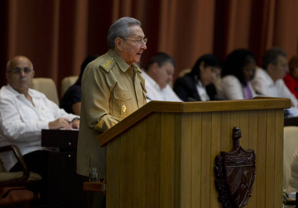 Cuban President Raul Castro Ruz in the plenary of the National Assembly. Photo: Ladyrene Pérez / Cubadebate