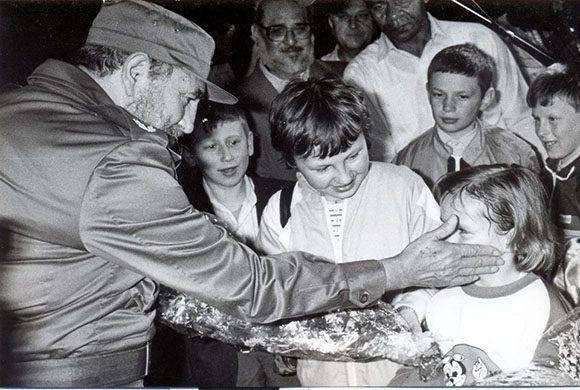 El Fidel apegado a la gente. Foto: Archivo.