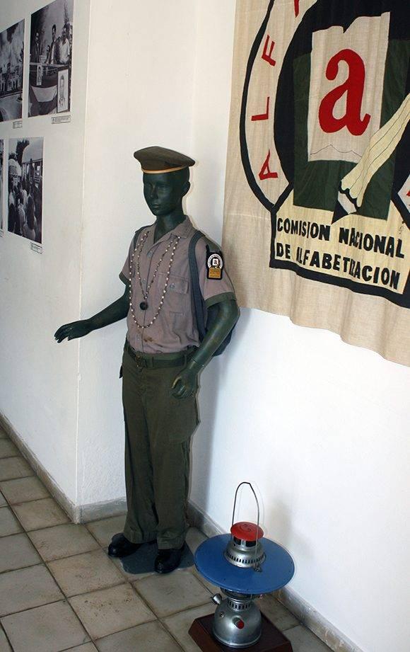 Uniforme de los alfabetizadores Conrado Benítez. oto: José Raúl Concepción/ Cubadebate.