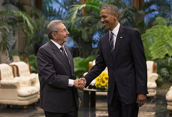 Raúl y Obama durante las conversaciones oficiales. Foto: Ismael Francisco/Cubadebate.