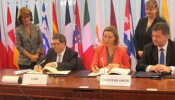 Resultado de imagen para Acuerdo de Diálogo Político y de Cooperación entre la Unión Europea y sus Estados Miembros, por un lado, y la República de Cuba