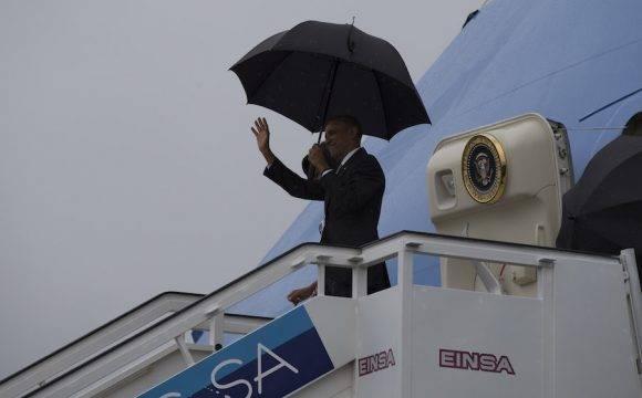 La llegada de Obama. Foto: Ismael Francisco/ Cubadebate