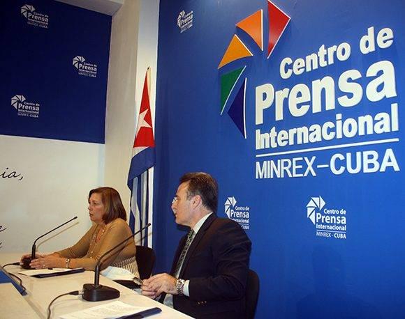 La conferencia de prensa tuvo lugar en el Centro de Prensa Internacional, en La Habana. Foto: José Raúl Concepción/ Cubadebate.