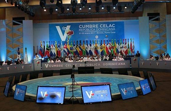 Sesionó la V Cumbre de la Celac. Foto: @MIREXRD/ Twitter.