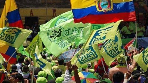 Simpatizantes de Alianza País. Foto: Andes.