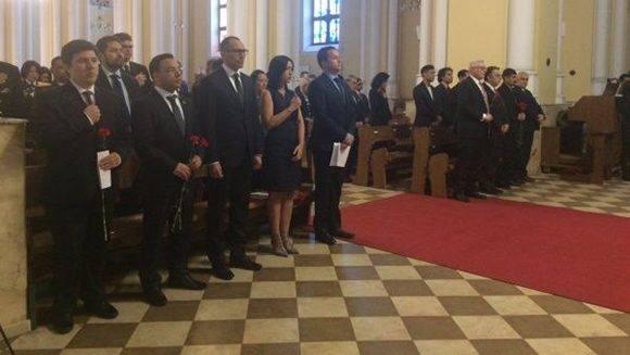 Misa en Catedral Católica de Moscú a la memoria de Chávez. Foto: @EmbavenezRusia.