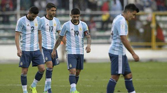 Argentina marcha quinta (puesto de repechaje) en la clasificación sudamericana. Foto: Juan Mabromata/ AFP.