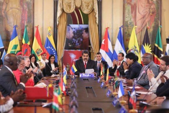 Clausura de la XVI cumbre de los países de la Alianza Bolivariana para los pueblos de Nuestra América.