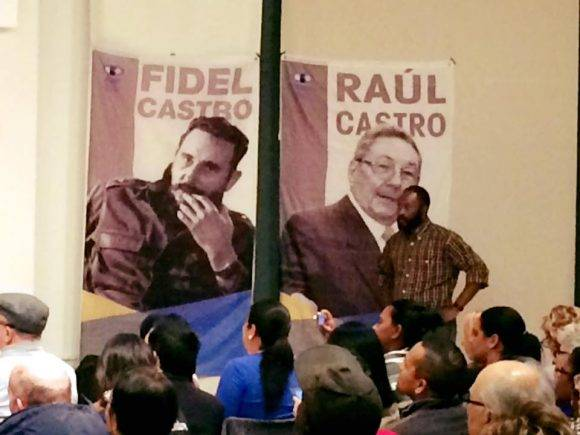 Homenaje a Fidel n Nueva York. Foto: Página de Facebook de Helen Yaffe