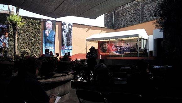El XXII Encuentro Nacional de Solidaridad con Cuba (MMSC) rindió hoy homenaje al líder histórico de la Revolución cubana, Fidel Castro y al revolucionario Ernesto Che Guevara. Foto: @EmbaCuMex