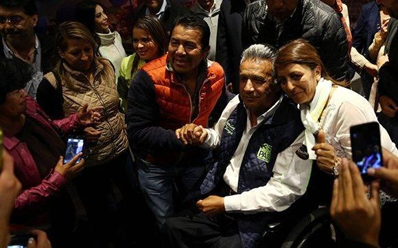 Lenín Moreno ganó ampliamente la primera vuelta de las elecciones. Foto: Mariana Bazo/ Reuters.