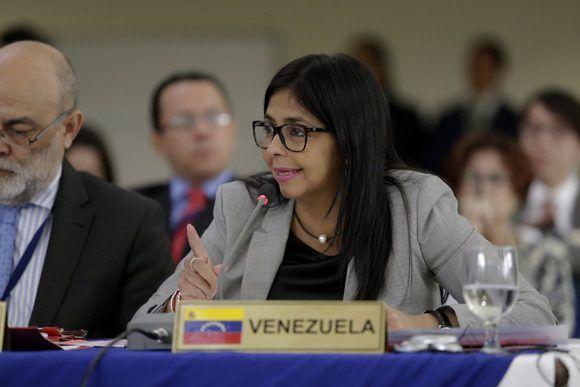 Venezuela se despide de la OEA con una agenda constructiva a favor de los Pueblos. Foto: @vencancilleria