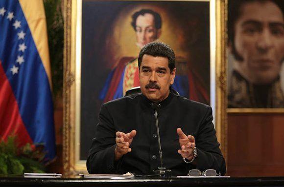 Nicolás Maduro durante una rueda de prensa ofrecida el 22 de junio en el Palacio de Miraflores. Foto: @PresidencialVen/ Twitter.