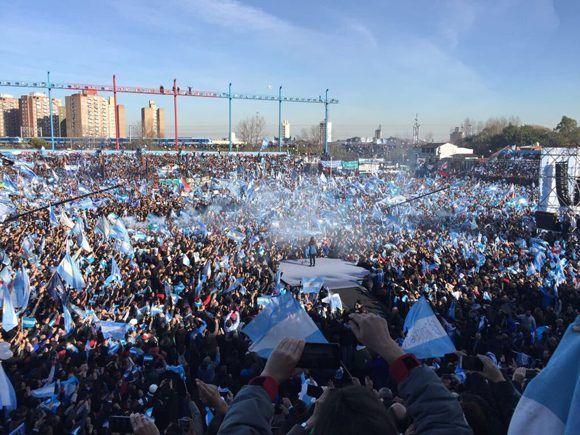Acto de presentación de Unidad Ciudadana, Frente liderado por Cristina Fernández en Argentina. Foto: @CFKArgentina.
