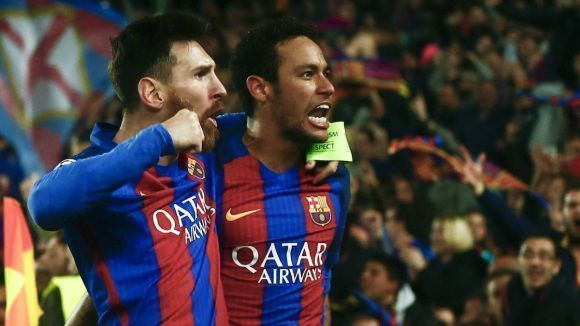 Messi y Neymar. Foto tomada de AS.