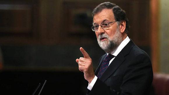 Mariano Rajoy, durante la comparecencia. Foto: Uly Martín.