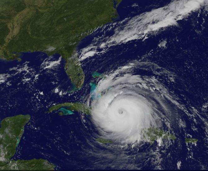 El huracán Irma sobre el oriente de Cuba.
