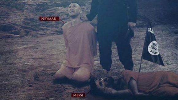 Ya antes la agrupación terrorista había amenazado a Messi y Neymar. Imagen: @siteintelgroup/ Twitter.