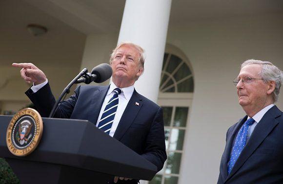 """""""Es un ataque muy inusual, como saben, pero creo que Cuba es responsable, sí"""", concluyó Trump sin mostrar ninguna prueba de los """"ataques sónicos"""". Foto: Tom Brenner/The New York Times."""