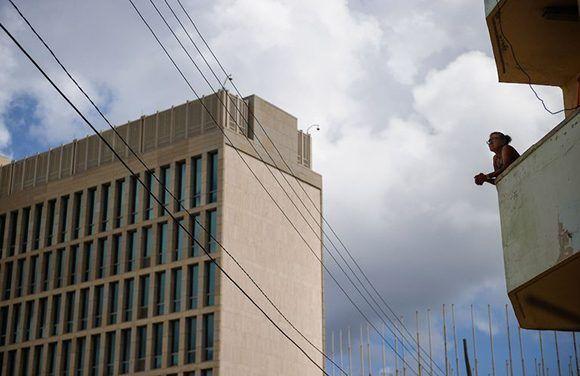 Embajada de los Estados Unidos en Cuba. Foto: AFP.