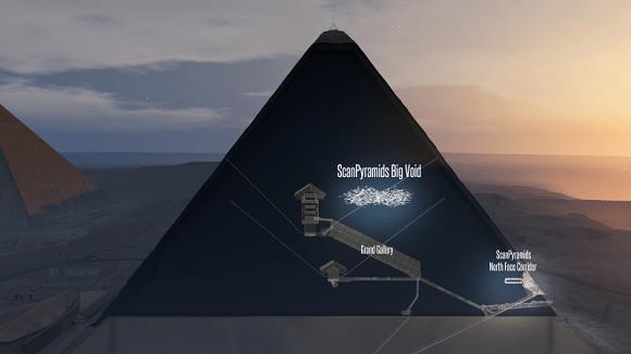 Pirámide de Keops. Foto: ScanPyramids Mission.