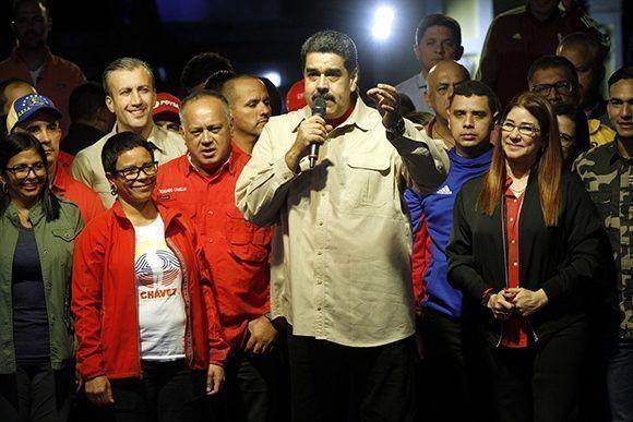 Nicolás Maduro parle au peuple vénézuélien après les élections municipales. Photo: Presse de Miraflores.