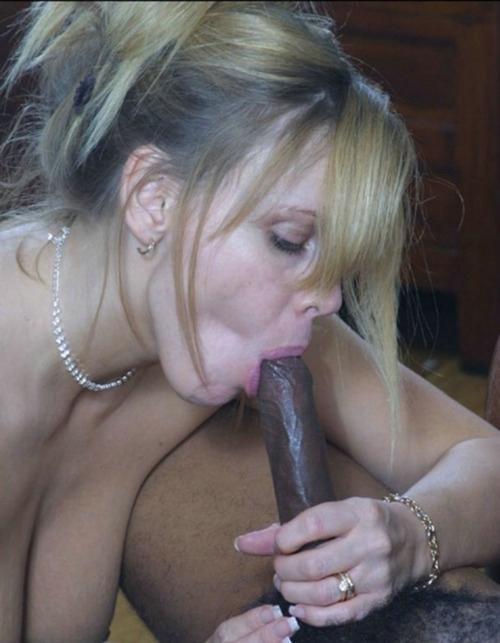 Amateur Mom Sucks Black Cock
