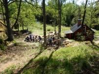 Utsikt över lägerplatsen