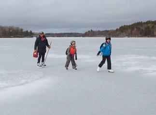 Med skridsko över bulig is till Djupån