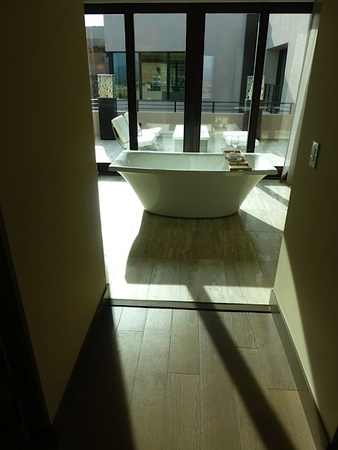 Ralph Bivins home builders convention January 2015 The New American Home show house in Las Vegas has oversized tub, demonstrating a trend in baths.