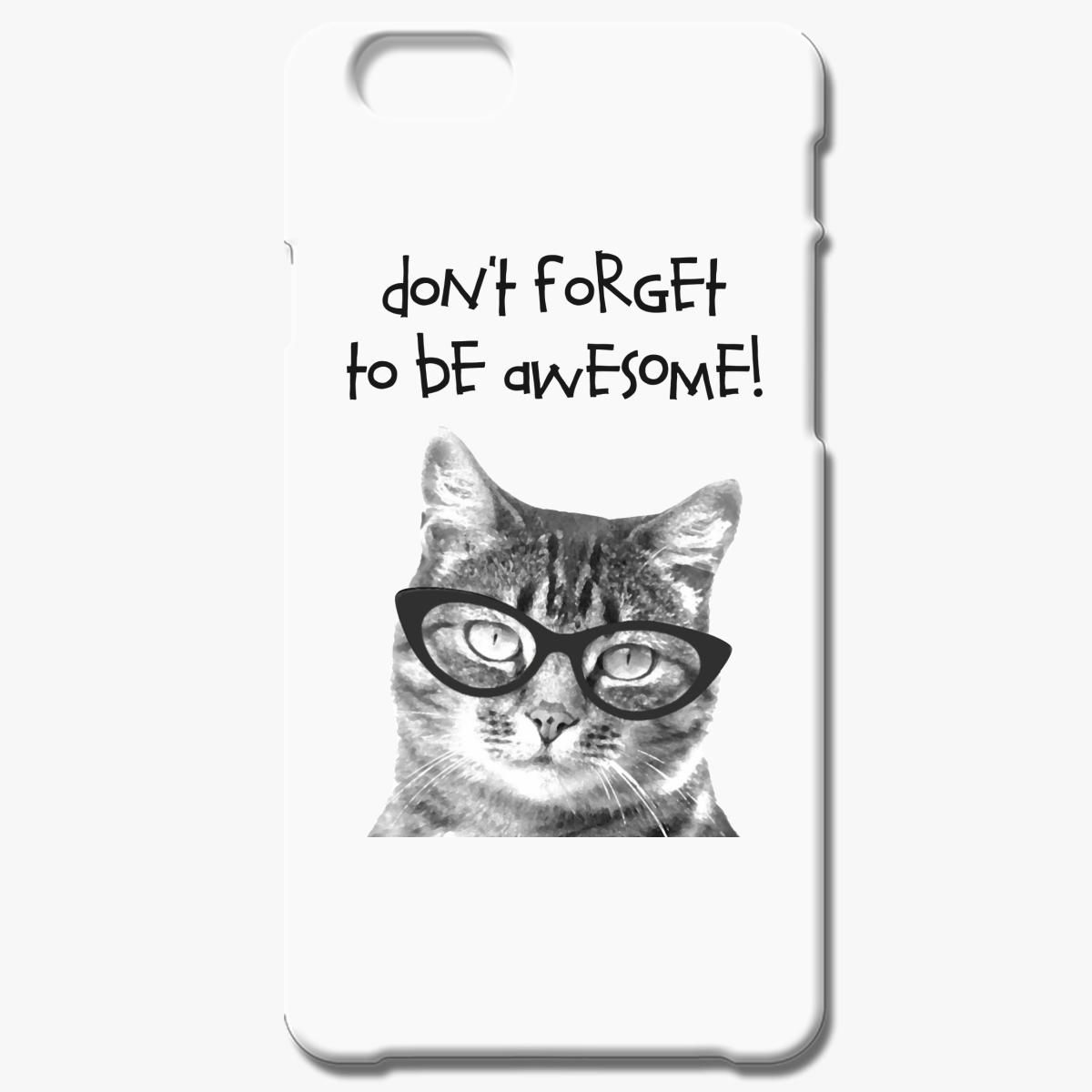 Awesome Cat Black Iphone 7 Plus Case