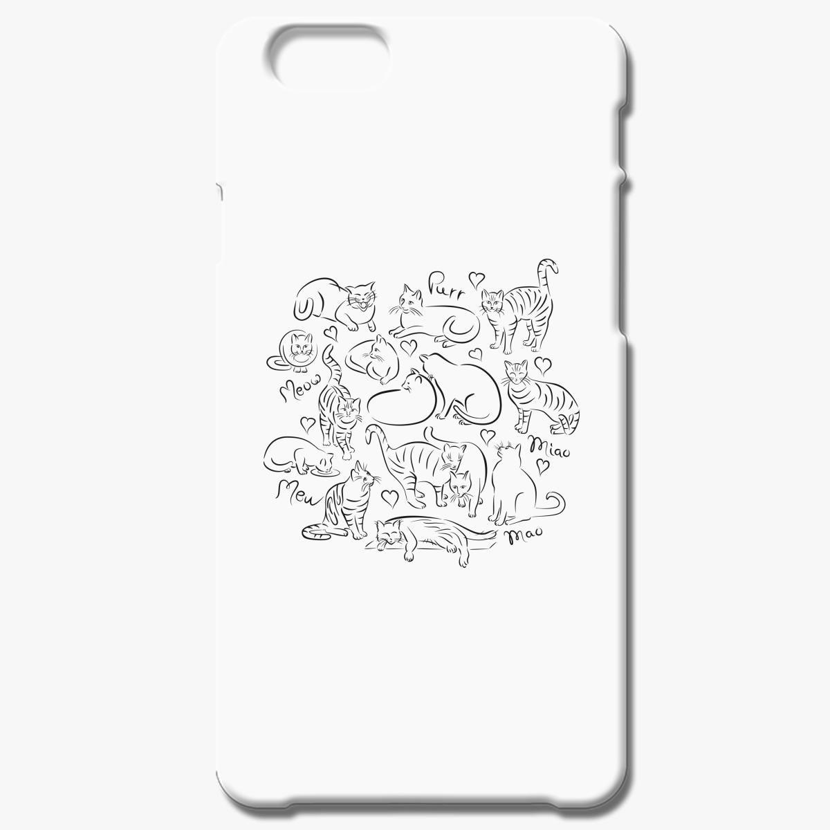 Brushstroke Cats Iphone 6 6s Plus Case