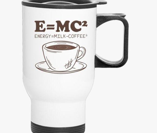 E Mc Energy Milk Coffee Travel Mug