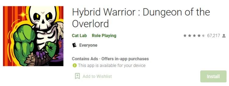 Hybrid Warrior app