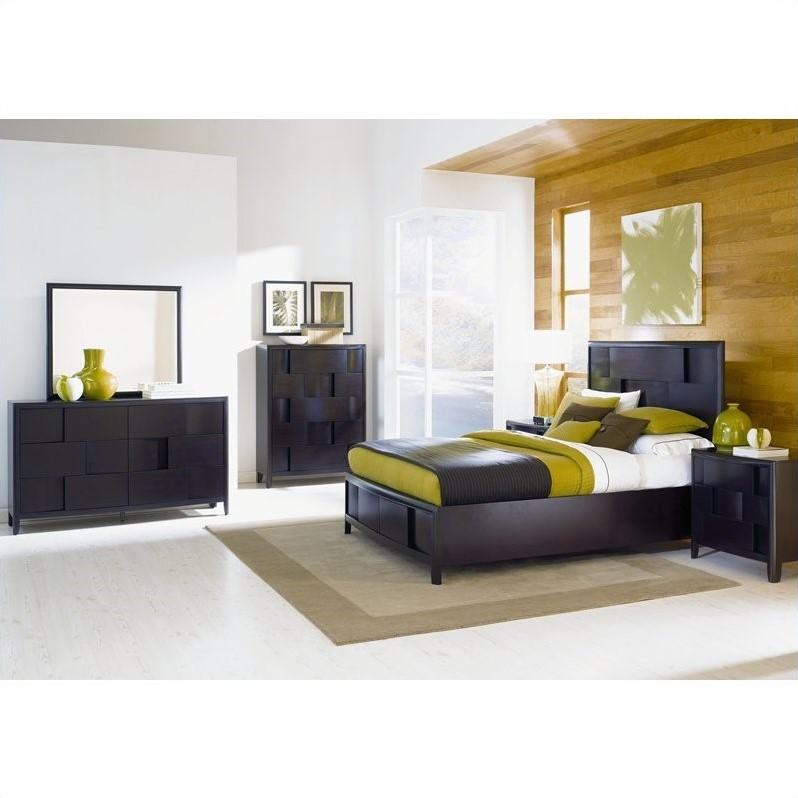 magnussen nova platform bed 3 piece bedroom set in chestnut