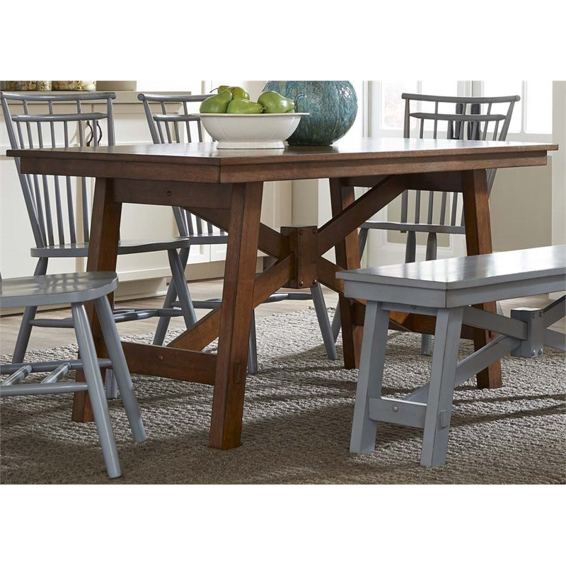 Liberty Furniture Creations Ii Dining Table In Tobacco
