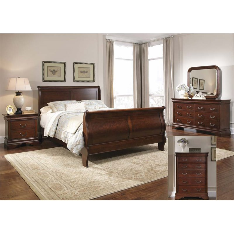 liberty furniture carriage court king sleigh bed dresser mirror chest ns