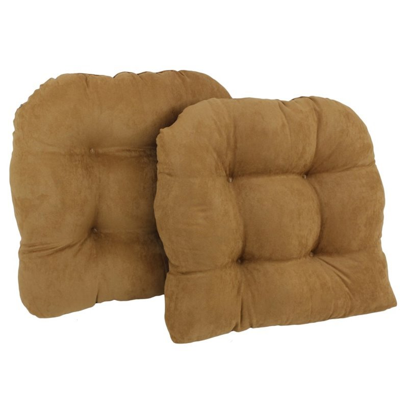 blazing needles u shaped chair cushion set of 2