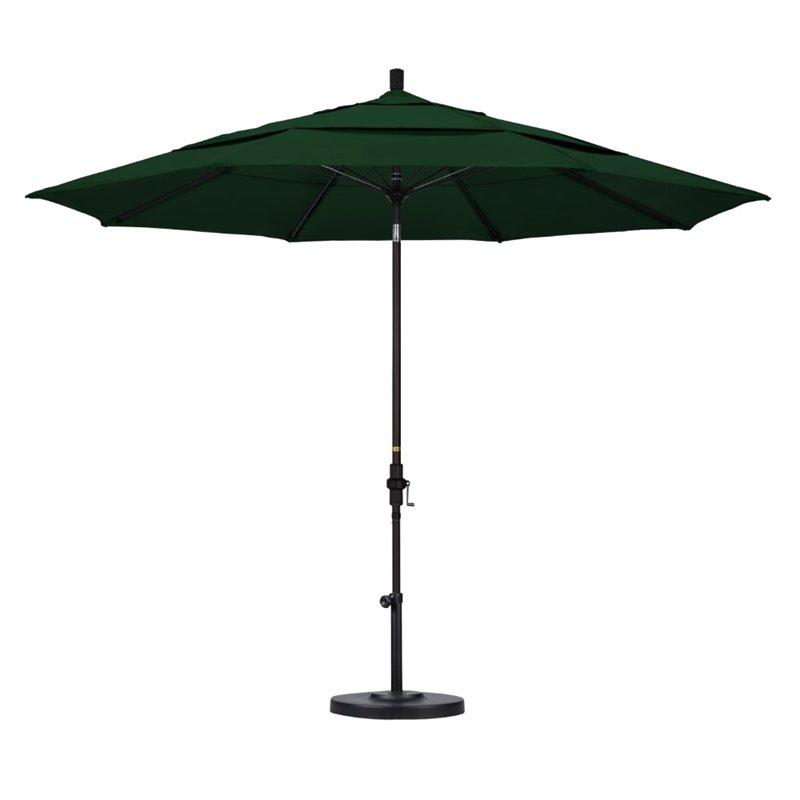california umbrella 11 patio umbrella in hunter green garden patio umbrellas home garden