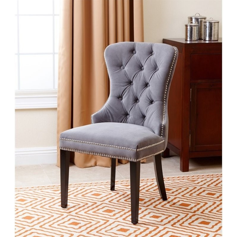 Navy Blue Tufted Accent Chair