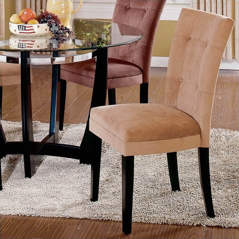 Steve Silver Furniture Complaints #32: Steve Silver Company Matinee Camel Fabric Parson Dining Chair