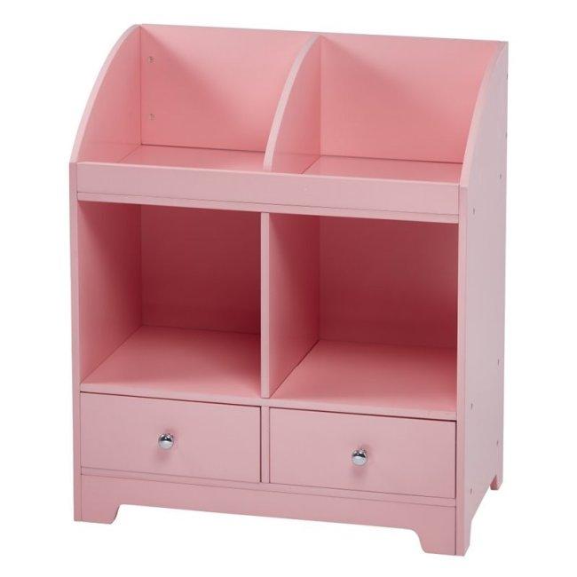 Teamson Kids Windsor Cubby Storage in Pink